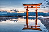 Itsukushima Miyajima Japan. Itsukushima Shrine and floating torii gate