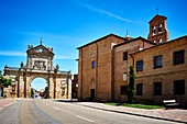 San Benito Arch. Built in 1662 according to the design of the architect Felipe Berrojo. Monastery of San Benito, which was the southern portal of the church. French Way, Way of St. James.Sahagun, León, Castile and Leon, Spain, Europe