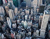 View of Manhattan midtown from the top of the Empire state building, New York City\n