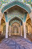 Shabestan pillars in the prayer hall, Vakil Mosque, Shiraz, Fars Province, Iran