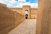Ruins, towers and walls of Rayen Citadel, Biggest adobe building in the world, Kerman Province, Iran