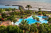 Pool and beach of Sheraton La Caleta Resort & Spa Costa Adeje Tenerife Island, Canary Islands, Spain