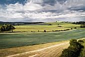 Fields near Sachsenhausen, Waldeck, Waldeck-Frankenberg, Hesse, Germany, Europe