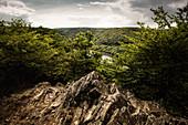 View from Lindenberg to Ringelsberg, Kellerwald-Edersee National Park, Hesse, Germany, Europe