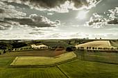 Felder bei Sachsenhausen, Waldeck, Waldeck-Frankenberg, Hessen, Deutschland, Europa