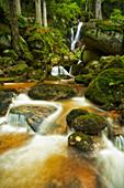 Waterfall in the summery Ysperklamm, Lower Austria.