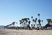 Frisbee end on the beach in Santa Barbara, California, USA.