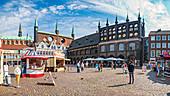 Market in Luebeck, Schleswig-Holstein, Germany