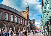 Town hall from Breite Strasse in Luebeck, Schleswig-Holstein, Germany