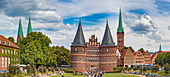 Holsten Gate in Luebeck, Schleswig-Holstein, Germany
