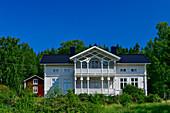 Large Swedish villa with elaborate decoration, near Halaforsen, Västernorrland, Sweden