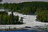 Der Wasserfall Storforsen mit Stromschnellen, Vidsel, Norrbottens Län, Schweden