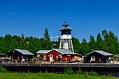 Leisure facility with lighthouse near Piteå, Västerbottens Län, Sweden