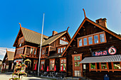 The old train station building and restaurant in Boden, Norrbottens Län, Sweden
