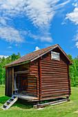 Ancient, traditional wooden hut, Sollerön, Dalarna Province, Sweden