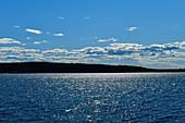 Glittering sea water, Gulf of Bothnia, Bjuröklubb nature reserve, Västerbottens Län, Sweden