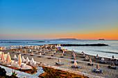 Sunset mood on Crete, Heraklion, Greece