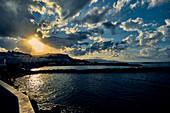 Sunset on Crete, Heraklion, Greece