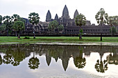 Cambodia, Siem Raep; Angkor Vat Temple early morning