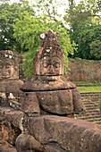 Cambodia, Siem Raep, Angkor, Southern Gate, Guardian