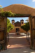 El Santuario de Chimayo was built in 1813 in the small community of El Potrero just outside of Chimayo, New Mexico, USA.