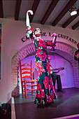 Maria José León flamenco dancing at the House of the Guitar (Casa de la Guitarra) Seville, Spain on 26 March 2016