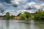 Boating on the Thames Henley Oxfordshire UK July