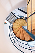 Staircase in the house on the Alb, Bad Urach, Reutlingen district, Neckar-Alb region, Swabian Alb, Baden-Württemberg, Germany