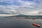 Approach to the airport of Ponta Delgada, Azores