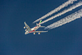 Emirates Airbus A380 in cruise