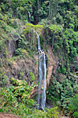 Malawi; Northern Region; north of Livingstonia; Manchewe waterfall; Water falls in numerous cascades into the depths