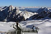 AlpSpix viewing platform on the Zugspitzplatt, Zugspitze, Garmisch-Partenkirchen-Bavaria, Germany