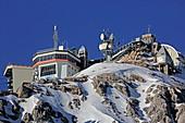 Wetterstation, Zugspitze, Garmisch-Partenkirchen, Werdenfelser Land, Oberbayern, Bayern, Deutschland