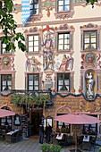 Gasthof zum Rassen, Ludwigstrasse, Partenkirchen, Garmisch-Partenkirchen, Werdenfelser Land, Upper Bavaria, Bavaria, Germany