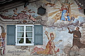 Lüftlmalerei, Garmisch, Garmisch-Partenkirchen, Werdenfelser Land, Oberbayern, Bayern, Deutschland
