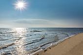 Sandy beach on the Ellenbogen Peninsula near List, Sylt, Schleswig-Holstein, Germany