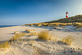 List-Ost lighthouse and beach on the Ellenbogen Peninsula, Sylt, Schleswig-Holstein, Germany