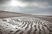 Wadden coast near Rantum, Sylt, Schleswig-Holstein, Germany