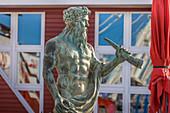 Neptune statue in List, Sylt, Schleswig-Holstein, Germany