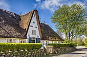 Historisches Reetdachhaus in Keitum, Sylt, Schleswig-Holstein, Deutschland