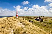 List-Ost lighthouse on the Ellenbogen Peninsula, Sylt, Schleswig-Holstein, Germany