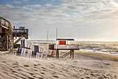 West beach of Kampen, Sylt, Schleswig-Holstein, Germany