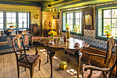 Parlor in the Old Frisian House from 1640 on Keitumer Watt, Sylt, Schleswig-Holstein, Germany