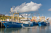 Fishing trawler in the port of Hörnum, Sylt, Schleswig-Holstein, Germany