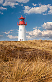 List-West lighthouse in the Ellenbogen Peninsula nature reserve, Sylt, Schleswig-Holstein, Germany