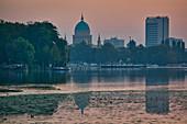 Havel, Nikolaikirche, Hotel Mercure, Potsdam, State of Brandenburg, Germany