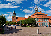 Marktplatz, Boizenburg, Mecklenburg-Vorpommern, Deutschland