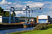 Werft, Boizenburg, Mecklenburg-Vorpommern, Deutschland