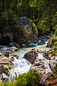 Ramsauer Ache torrent, Berchtesgadener Land, Upper Bavaria, Germany