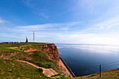 View of the Heligoland lighthouse in the Oberland, North Sea, Schleswig-Holstein, Germany